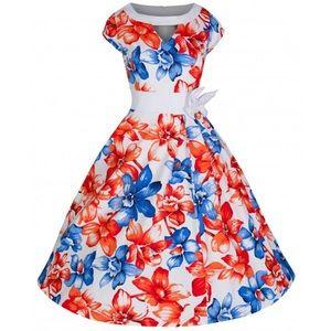 Lindy Bop 'Kelly' dress in Oriental Lily
